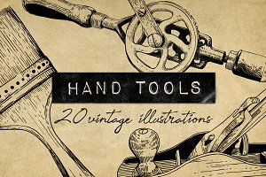 Vintage Hand Tools Illustrations