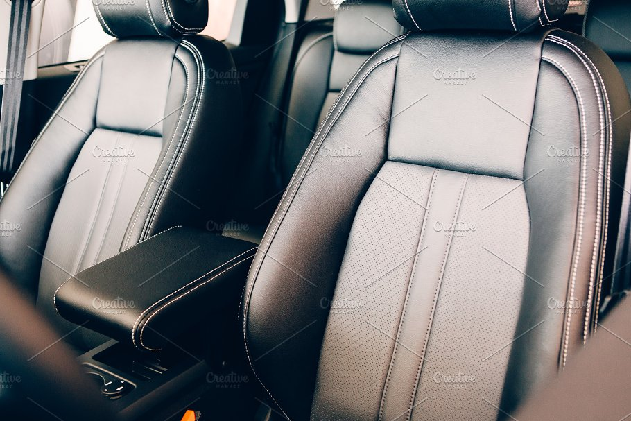 Chic Leather Seats Car Interior Transportation Photos Creative