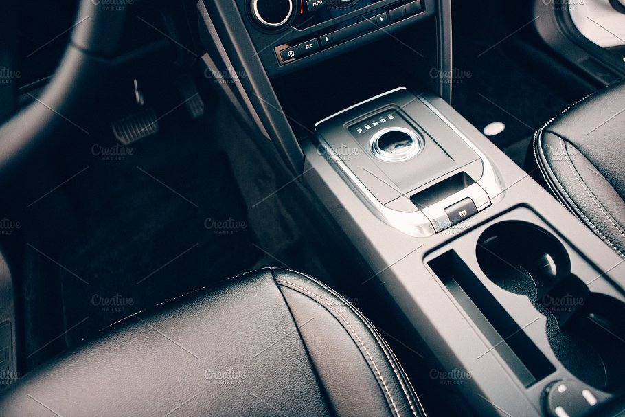 Chic Car Interior In Leather Seats Transportation Photos