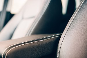 Car leather upholstery detail