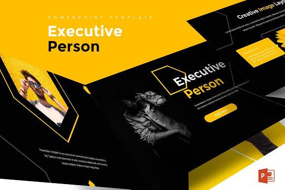 executive person powerpoint template presentation templates