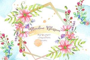 -30% Meadow Blossom Watercolor