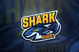 Shark Rugby - Mascot & Esport Logo