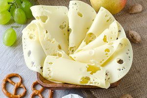 French snack with cheese and fruits