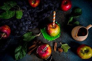 Autumn caramelized apples