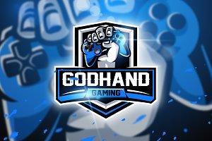 Godhand Gaming-Mascot & Esport logo