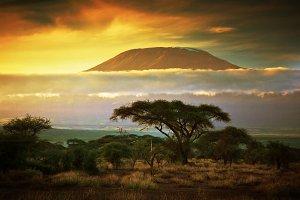 Clouds over Mount Kilimanjaro