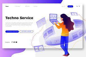 IT Service - Banner & Landing Page