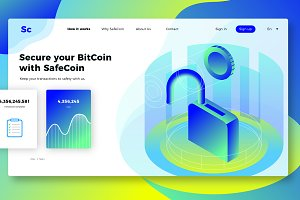 SafeCoin - Banner & Landing Page