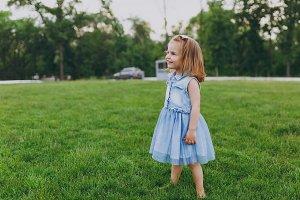 Pretty little cute child baby girl i