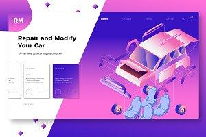Custom Car - Banner & Landing Page