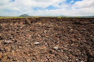 Basalt rocks surface, Tsavo West