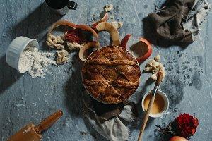 Apple Pie Dessert & Ingredients