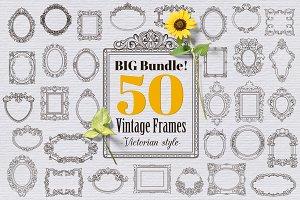 50 Vintage Frames - Victorian Style