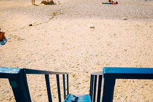Beach panorama from the lifeguard