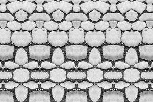 Black and White Geometric Stone Tile