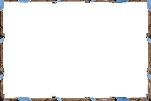 White Landscape Frame with Pilars Bo