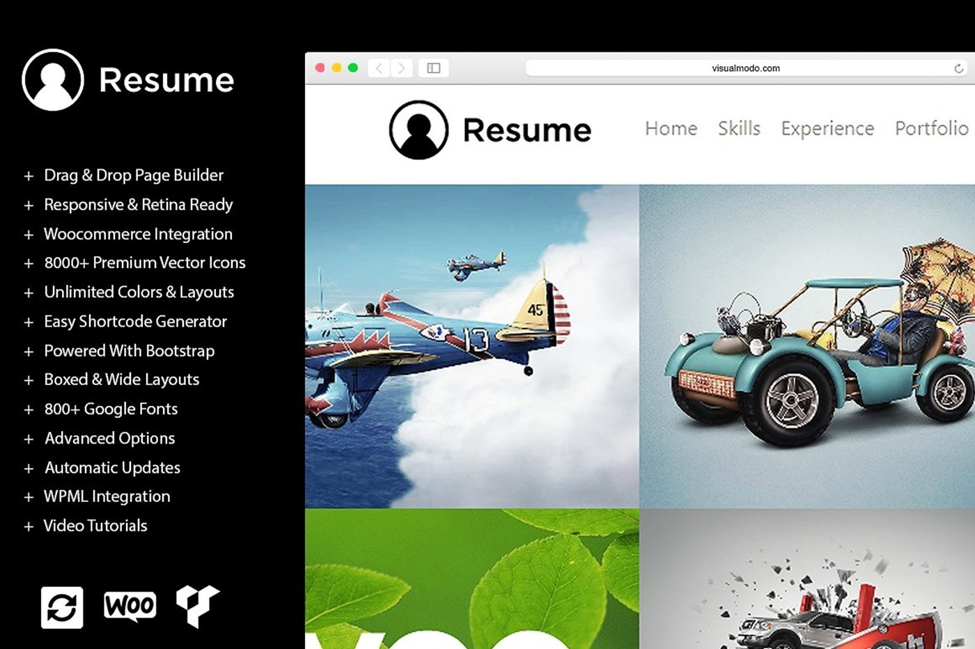 resume wordpress theme wordpress business themes creative market - 46 Automotive Cv Effortless