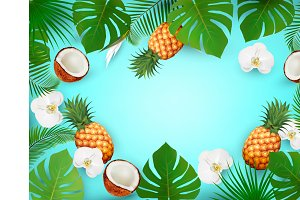 Summer tropical background with exot
