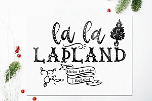 LaLaLapland. Fonts & illustrations