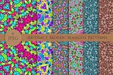 ABSTRACT mosaic seamless pattern set