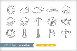 Minimal weather icons