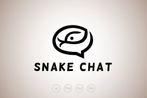 Snake Chat Logo Template