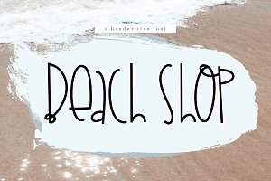 Beach Shop - A Handwritten Font