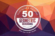 50 Geometric Backgrounds