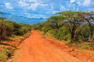 Savanna landscape, Tsavo West