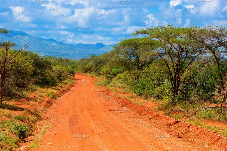 Savanna landscape tsavo west featuring africa, tsavo, and ...
