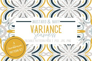 Mustard & Navy Patterns