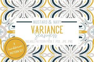 Mustard & Navy Patterns