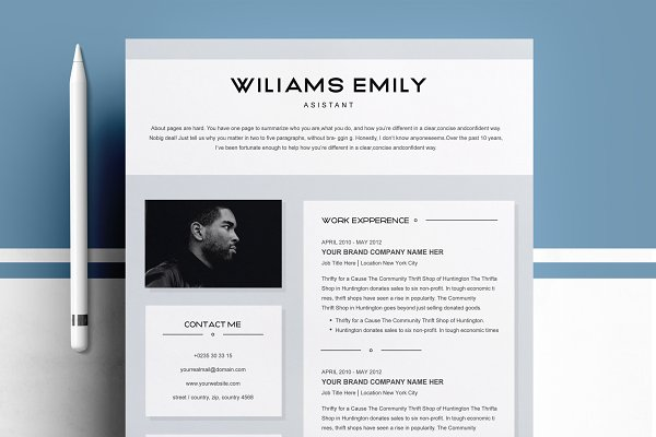 Resume Template 2 Pages For Ms Word Creative Illustrator