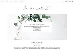 Minimalist | Blogger template