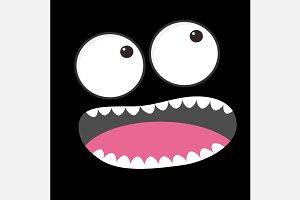 Sad face emotion. Boo spooky.