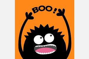 Screaming monster. Boo.