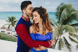Wind blows around Hindu groom