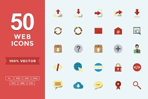 Flat Icons Web Set