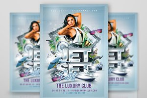 Jet Set party Flyer