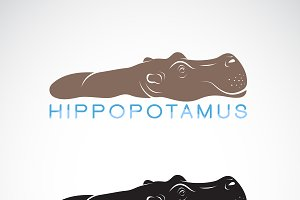 Vector of hippopotamus or hippo.