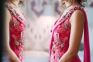 Portrait of beautiful Hindu bride