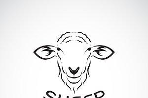 Vector of sheep head design.