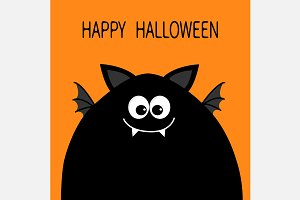 Happy Halloween. Funny monster