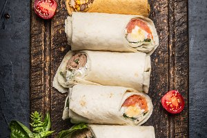 Vegetarian tasty wraps