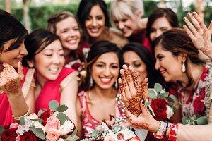 Indian bridesmaids admire
