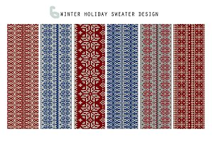 6 Winter Holiday Sweater Design