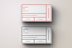 Unique Simple Business Card Template