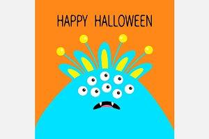 Monster head. Happy Halloween.