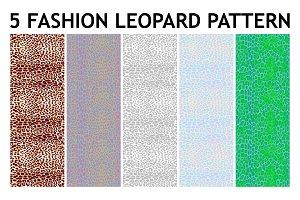 5 Seamless leopard patterns